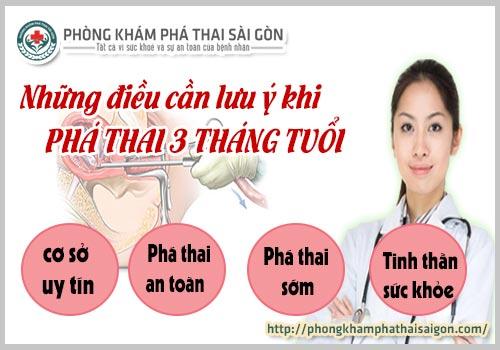 pha thai 3 thang tuoi can luu y nhung gi