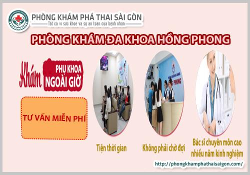 kham phu khoa tai phong kham hong phong